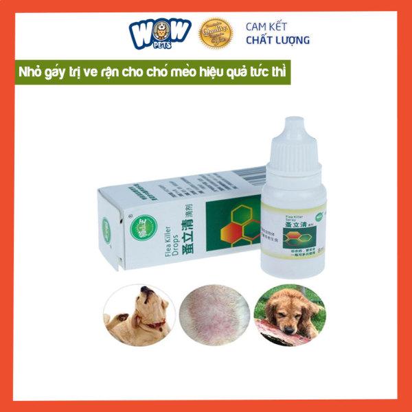 Nhỏ gáy trị ve chó mèo. [W001 - 002] wowpets  khử mùi hôi, ve rận, bọ chét