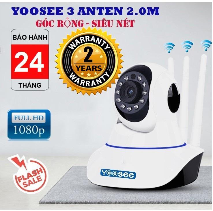 (BẢO HÀNH 24 THÁNG, SALE 50%)CAMERA WiFi YOOSEE 2.0Mp FullHD 1920 X 1080,Camera wifi KHÔNG DÂY hỗ trợ ghi âm, hỗ trợ lưu trữ video tối đa 15 ngày