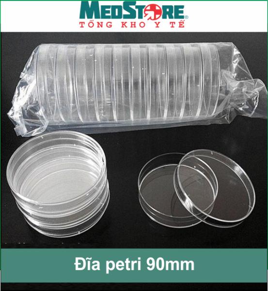 Bộ 10 đĩa Petri kích thước 90mm 1 ngăn trong suốt Medisafe - TBYT Medstore cao cấp