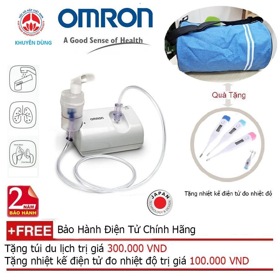 Máy Xông Mũi Họng Omron C801 (Trắng) + Quà tặng balo du lịch chính hãng