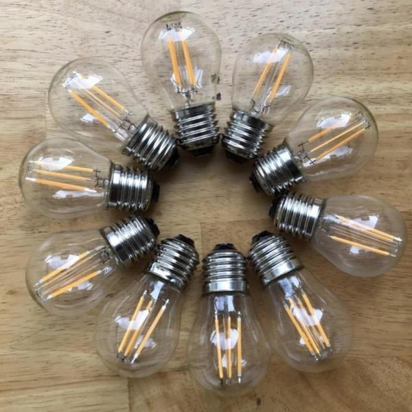 Bộ 10 Bóng Đèn Tròn trang trí Edison Vintage G45 E27 4W. Tiết kiệm năng lượng điện.Cam kết hàng tốt giá tốt.