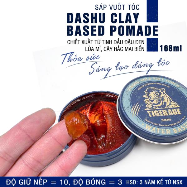 Pomate gốc nước tạo kiểu siêu bóng 6+, độ giữ nếp mạnh mẽ 10+ Dashu Classic Tiger Rage Pomade Water Based 168ml hương nước hoa cao cấp mùi Artisan nam tính, 90% thảo dược bảo vệ tóc, da đầu, dễ làm sạch.