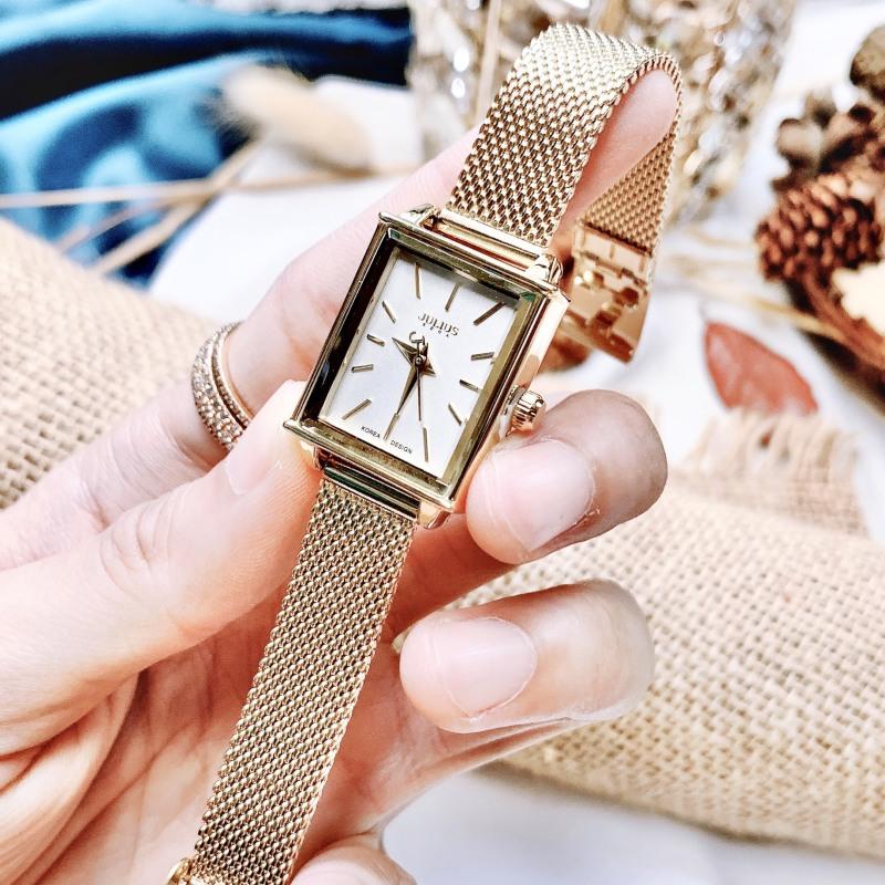 Đồng hồ nữ Julius Hàn Quốc JA-787 dây thép (Vàng ánh kim)