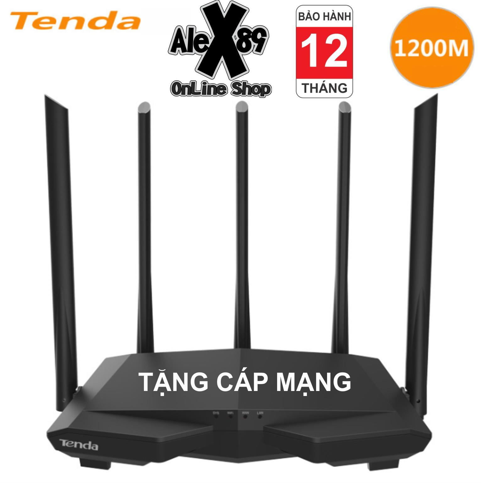 Coupon Ưu Đãi Bộ Phát Wifi Tenda AC7 1200M Băng Tần Kép - Tặng Cáp Mạng - BH 12T