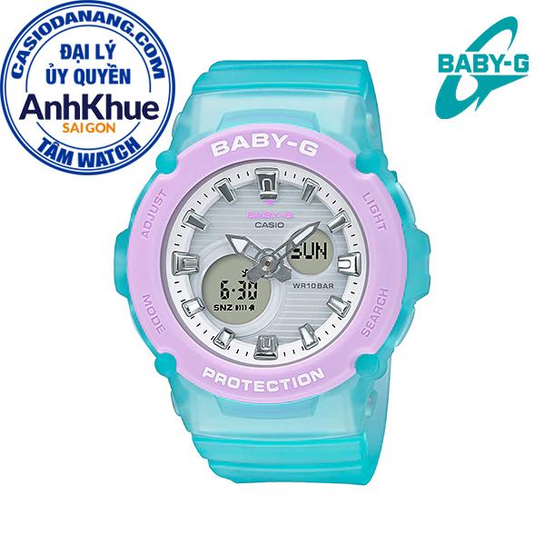 Đồng hồ nữ dây nhựa Casio Baby-G chính hãng Anh Khuê BGA-270-2ADR (42mm)