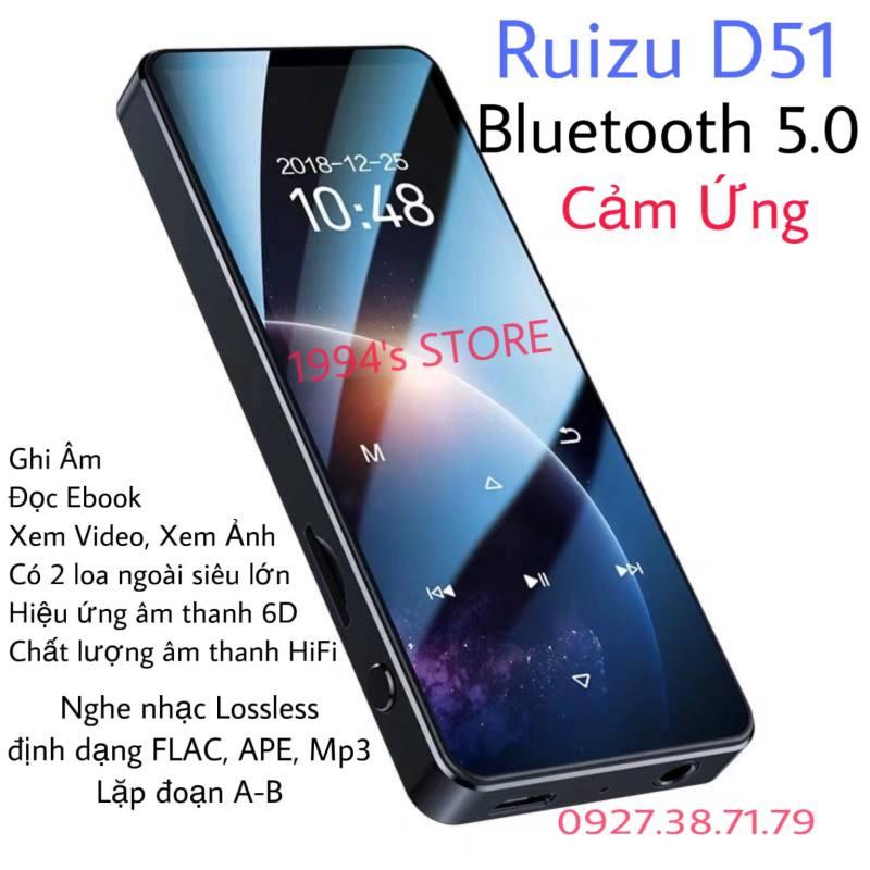 (CÓ SẴN) Máy Nghe Nhạc Ruizu D51 Bluetooth 5.0 Bản 16Gb - Loa Ngoài - Màn cong 1,5D - Phiên bản 2021