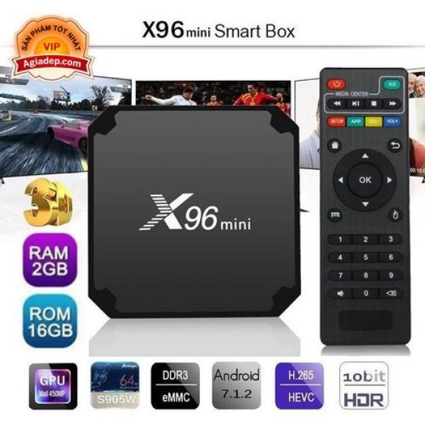 TV Box X96 mini 2G 16G Siêu mạnh siêu mượt Xem truyền hình phim online youtube
