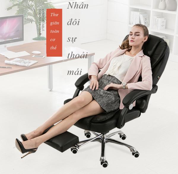 Ghê máy tính gia dụng, Ghế giám đốc, Ghế xoay văn phòng, Ghế ngả lưng thoải mái duỗi chân nghỉ ngơi. giá rẻ