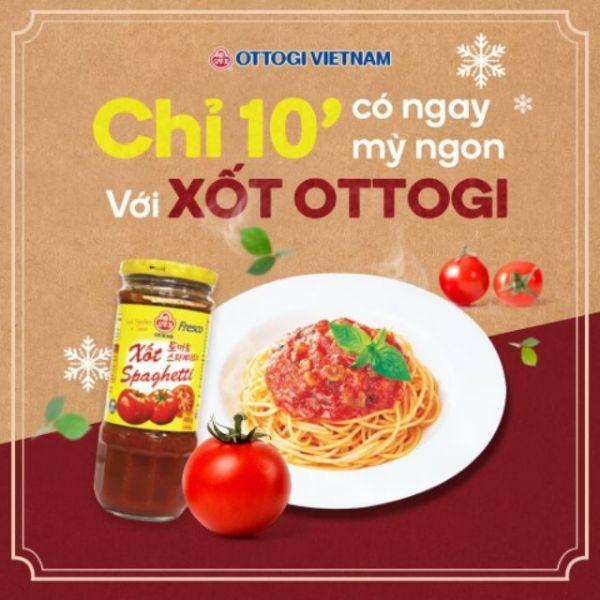 Xốt Spaghetti ottogi 400g trộn bún mì nưa siêu ngon