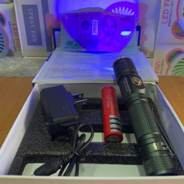 Bảng giá Đèn Pin Sạc Soi Tiền Giả + Siêu Sáng 516 (2 Chế Độ) Đèn Tia Cực Tím UV