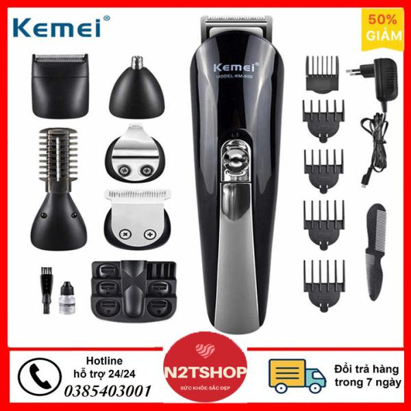 tăng đơ cắt tóc, tong do cat toc, Tông đơ tạo kiểu tóc đa chức năng 6in1 Kemei KM-600 Hãng phân phối chính thức