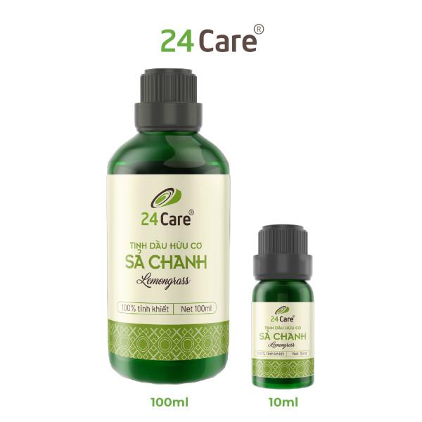 Tinh dầu Sả Chanh 100/50/10ml 24Care chiết xuất thiên nhiên, thơm phòng, đuổi muỗi