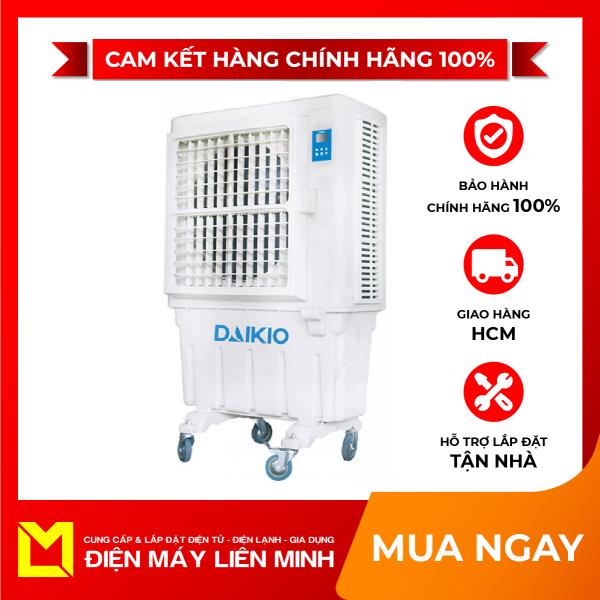 Máy làm mát không khí Daikio DK-9000A - Tiết kiệm điện năng 90% so với máy lạnh. Nhiệt độ tại miệng gió 26-28 độ C. Di chuyển bất cứ đâu bạn muốn nhờ váo thiết kế có bánh xe.Dễ dàng vệ sinh