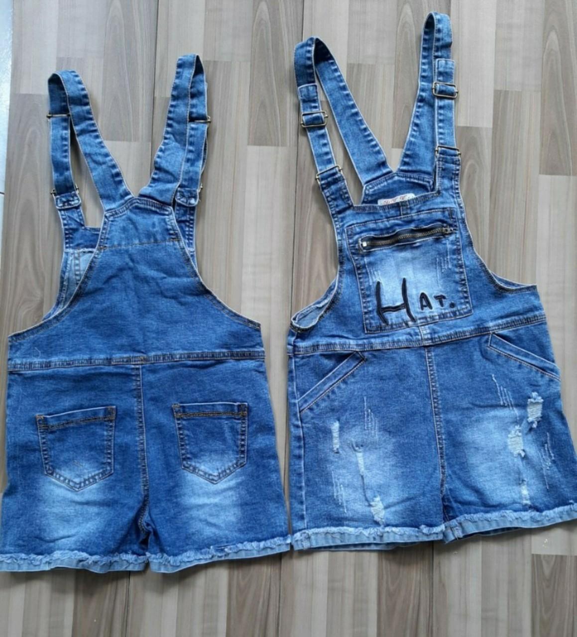 Giá bán Yếm jean sort đùi bé gái, chất jean mềm co giãn cực mạnh wash rách 19-39Kg