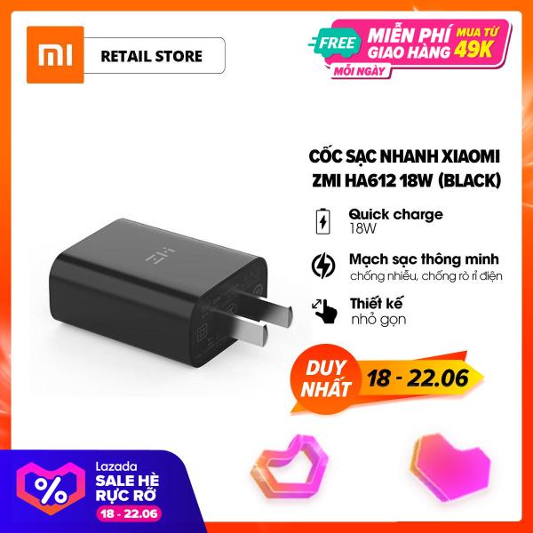 Giá [FREESHIP] Cốc sạc nhanh Xiaomi ZMI Fast Charge 3.0 18W l Nhựa ABS l Mạch sạc thông minh l Tốc độ sạc nhanh hơn gấp 8 lần l HÀNG CHÍNH HÃNG