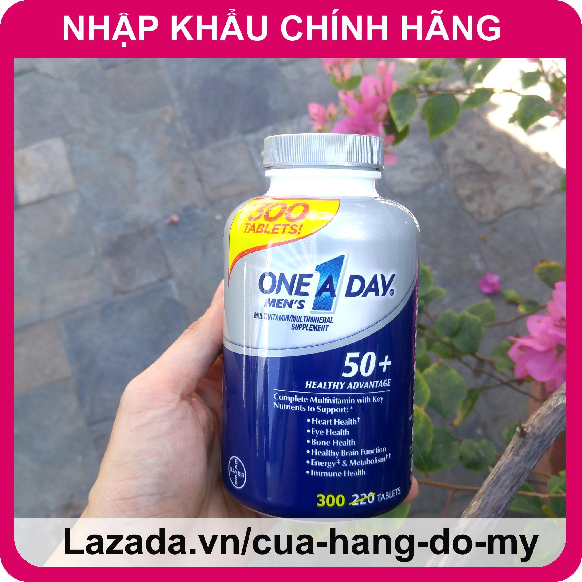 Vitamin Tổng Hợp One A Day Men's 50+  cho nam giới trên 50 tuổi 300 viên, bổ sung năng lượng cho cơ thể phòng ngừa bệnh tật