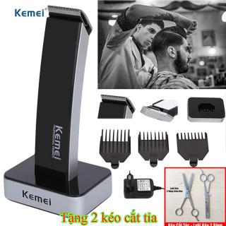 (TẶNG BỘ KÉO CẮT TỈA ) Tông đơ cắt tóc không dây Kemei KM-619,tông đơ cắt tóc sạc điện cao cấp kemei,Tông Đơ Cắt Tóc Đa Năng,Bảo hành 1 đổi 1 trên toàn quốc. thumbnail