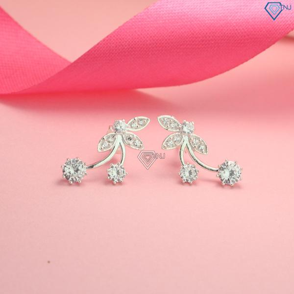 Khuyên tai nữ bạc 925 đẹp đính đá BTN0088 - Trang Sức TNJ