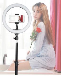 Đèn Led Hỗ Trợ Livestream, Chụp Hình Sản Phẩm, Makeup, Studio ZD666 Đèn LED Ring Mini Thiết Bị Quay Phim, Livestream, Chụp Ảnh - Đèn Livestream và Trang điểm 33CM , Có 3 chế độ màu Trắng-Vàng-Trung Tính thumbnail