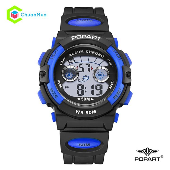 [HCM]Đồng hồ Bé trai Điện Tử Popart POP-944 Chống Nước - DHA398