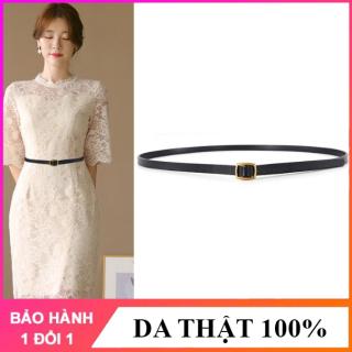 Đai váy Nutushop phong cách cá tính, bản nhỏ, chất liệu da bò cao cấp phù hợp với váy, đầm - NT276 thumbnail