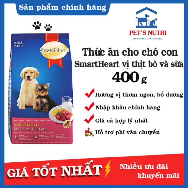 Thức Ăn dinh dưỡng Cho Chó Con Smartheart Puppy 400gr