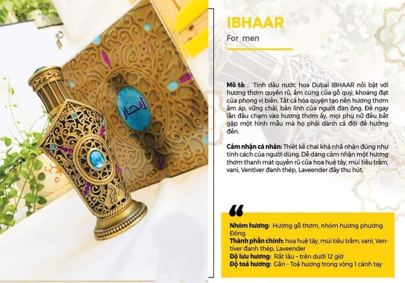 TINH DẦU NƯỚC HOA DUBAI NỘI ĐỊA IBHAAR