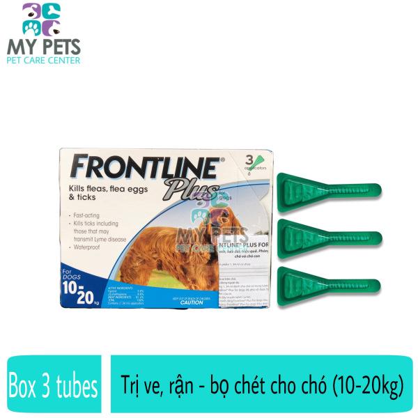 Frontline Plus nhỏ gáy hết ve rận, bọ chét cho chó (size 10-20kg) - Hộp 3 tuyp. ( 3 tubes. Full box)