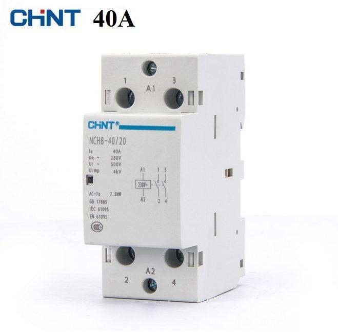Khởi động từ 40A, contactor 40A/220V CHINT chất lượng cao tiêu thụ ít điện, cong tac dien thong minh