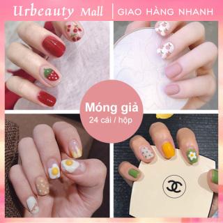 Urbeauty Mall Hộp 24 Móng tay giả Chứa keo ,Năm phong cách chọn móng tay giả nail giả , móng giả A8 ( Sản phẩm đã có sẳn keo ) thumbnail