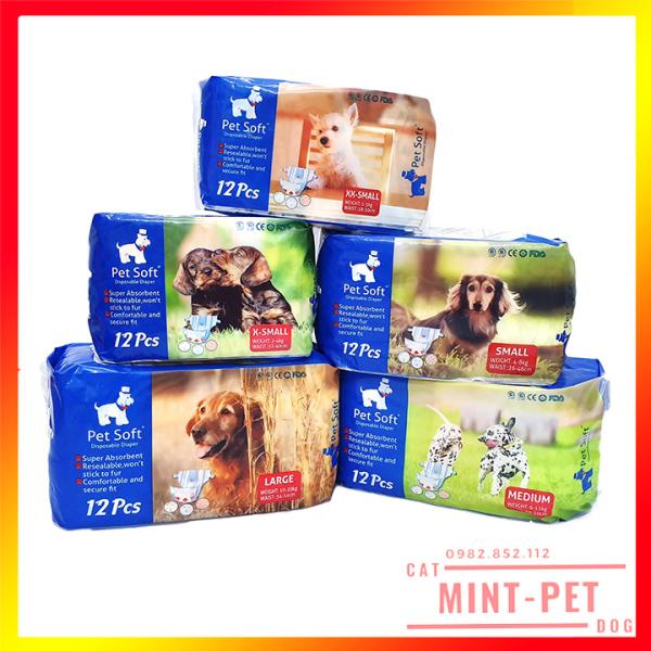 Bỉm Dành Cho Thú Cưng Pet Soft - Bịch 12 Chiếc