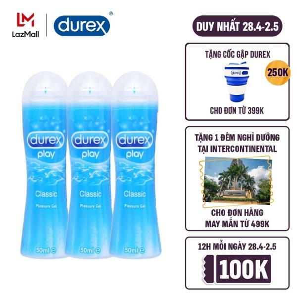 Combo 3 Gel bôi trơn Durex Play Classic 50ml giá rẻ