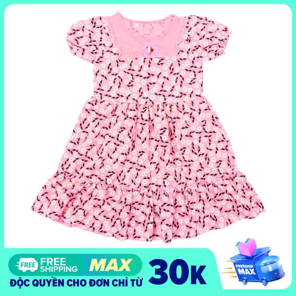 Váy hoa dễ thương bé gái - Chất vải mềm mại
