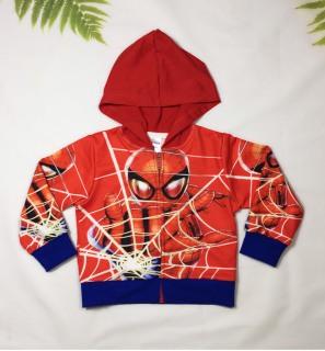 Áo khoác bé trai hình siêu nhân nhện-người nhện từ 9-40kg-Chất thun da cá thấm hút mồ hôi- Hình in 3D - Hương Nhiên thumbnail