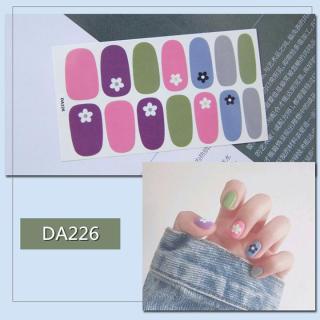 Bộ dán móng tay nail sticker gồm 14 móng mã DA221 - DA240 thumbnail