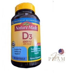 Viên uống bổ sung Vitamin D3 Nature Made D3 1000IU - USA thumbnail