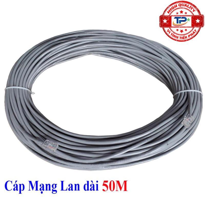 Bảng giá Dây cáp mạng LAN Internet bấm sẵn FTP-Cable chống nhiễu dài 50m chuẩn cat 5e - tiếp KingMaster Phong Vũ
