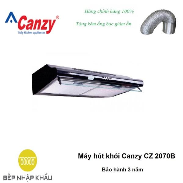 Máy hút khói Canzy CZ 2070B, được thiết kế tinh tế, hiện đại, làm từ chất liệu hợp kim cao cấp, chống va đập, khử mùi tuyệt đối