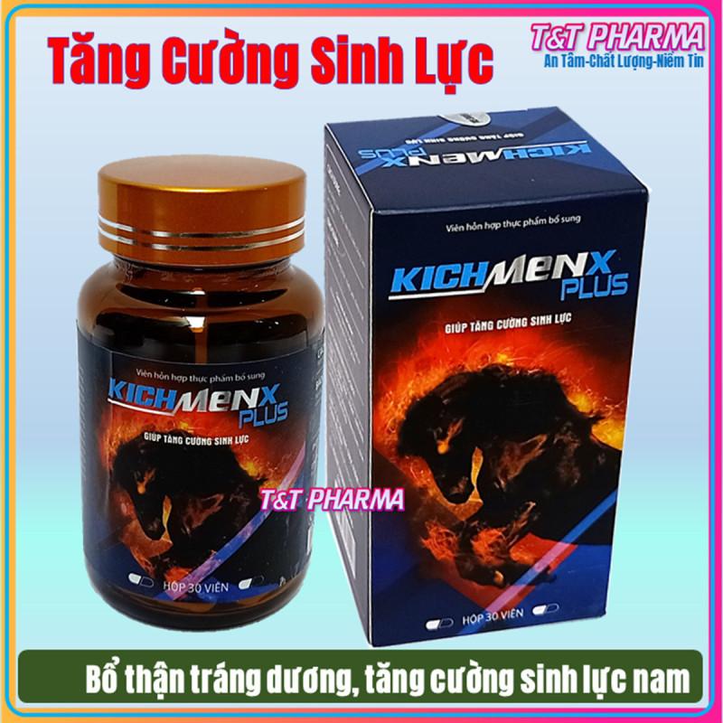 Viên Uống Tăng cường sinh lý cực mạnh  KichMenx Plus - Bổ Thận Tráng Dương, Nâng Tầm Sung Mãn-  Giúp tăng cường sinh lý mạnh hơn, bền vững hơn- hôp 30viên