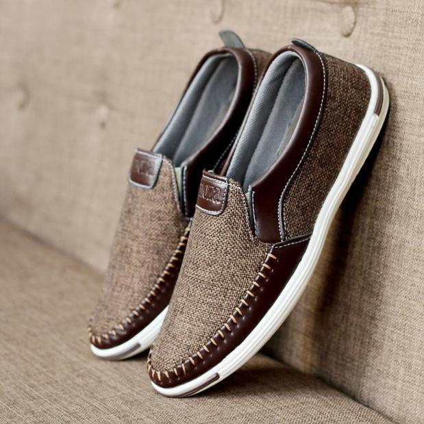 Giày lười nam vải bố cao cấp VB05 thiết kế thời trang thanh lịch phù hợp với mọi hoàn cảnh giá rẻ
