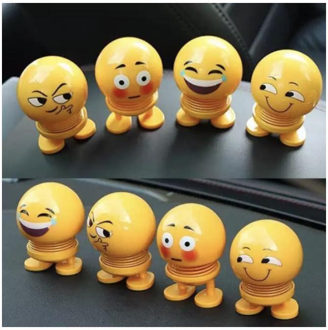 Thú Nhún Emojji con lắc lò xo - Siêu Chất - Siêu Vui Emoji để trên oto