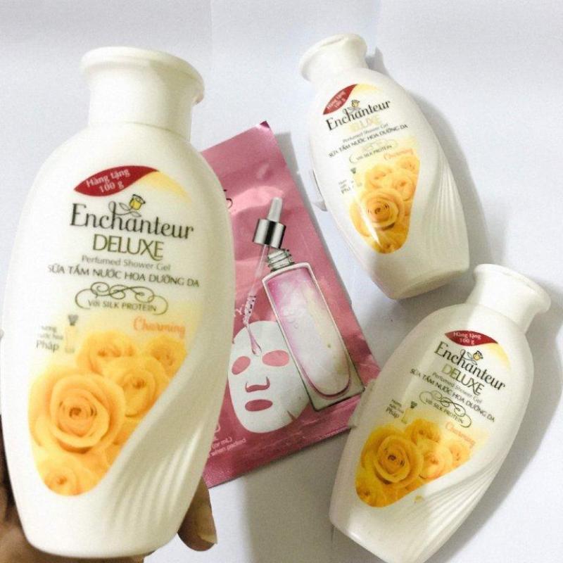 Bộ 3 chai sữa tắm Nước Hoa Enchanteur 100g/chai + tặng 1 mặt nạ Ponds dưỡng da trắng hồng !