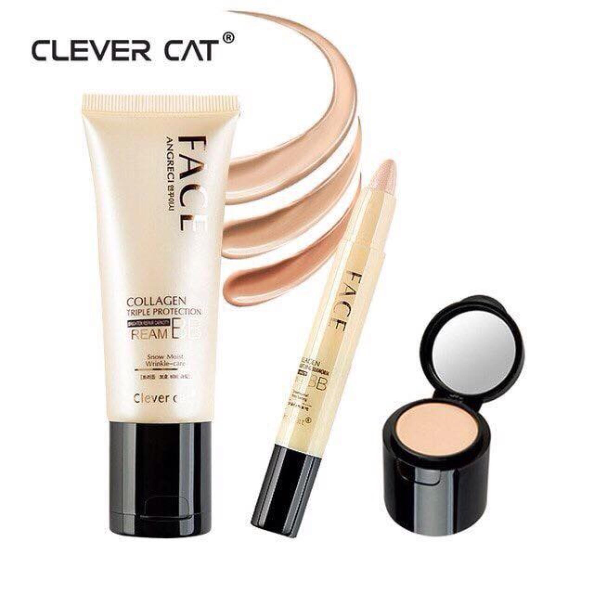 KEM NỀN CHE KHUYẾT ĐIỂM 2IN1 CLEVER CAT
