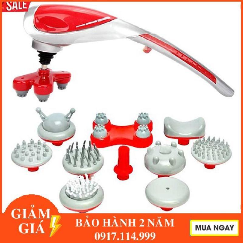 Máy massage cầm tay 10 đầu hồng ngoại Máy Matxa toàn thân 10 đầu cầm tay hồng ngoại