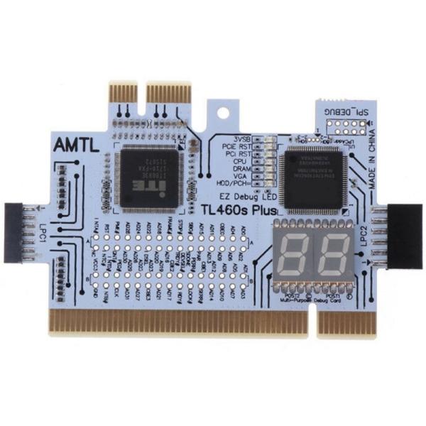 Bảng giá Detect Tool PCI-E LPC Multi Use Diagnostic Card Laptop Desktop Test Accessories Post LED Indicator PC Motherboard Debug Analyzer Phong Vũ