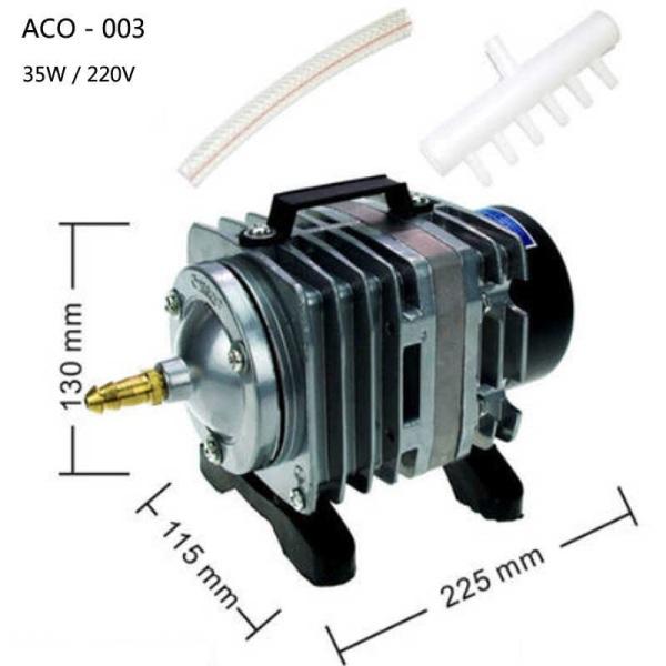 Máy thổi khí oxy Resun ACO-003 kèm 6m dây và 6 quả sủi  (máy sủi oxy)