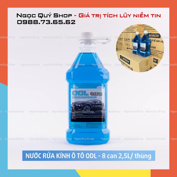 Nước rửa kính ô tô 2.5L cao cấp ODL - THÙNG 8 CAN - HÀNG CHUẨN
