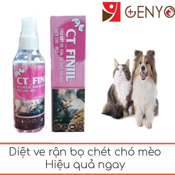 Xịt Ve Ghẻ Chó Mèo an toàn hiệu quả ngay - CT Finil 100ml