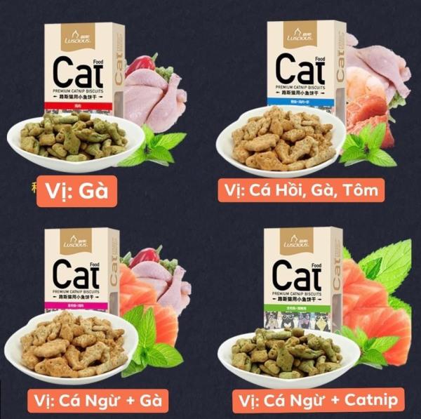 Bánh Thưởng Catnip Luscious Cho Mèo - Tốt Cho Hệ Tiêu Hóa Mèo - Tiêu Búi Lông - Tăng Tương Tác Mèo Và Chủ