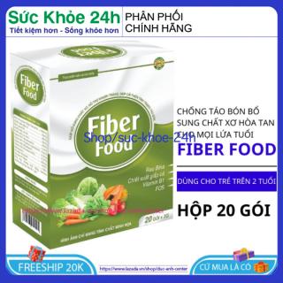 Bổ sung Chất xơ hòa tan cho bé trên 1 tuổi chống táo , giúp tiêu hóa tốt bón Fiber Food hộp 20 gói thumbnail